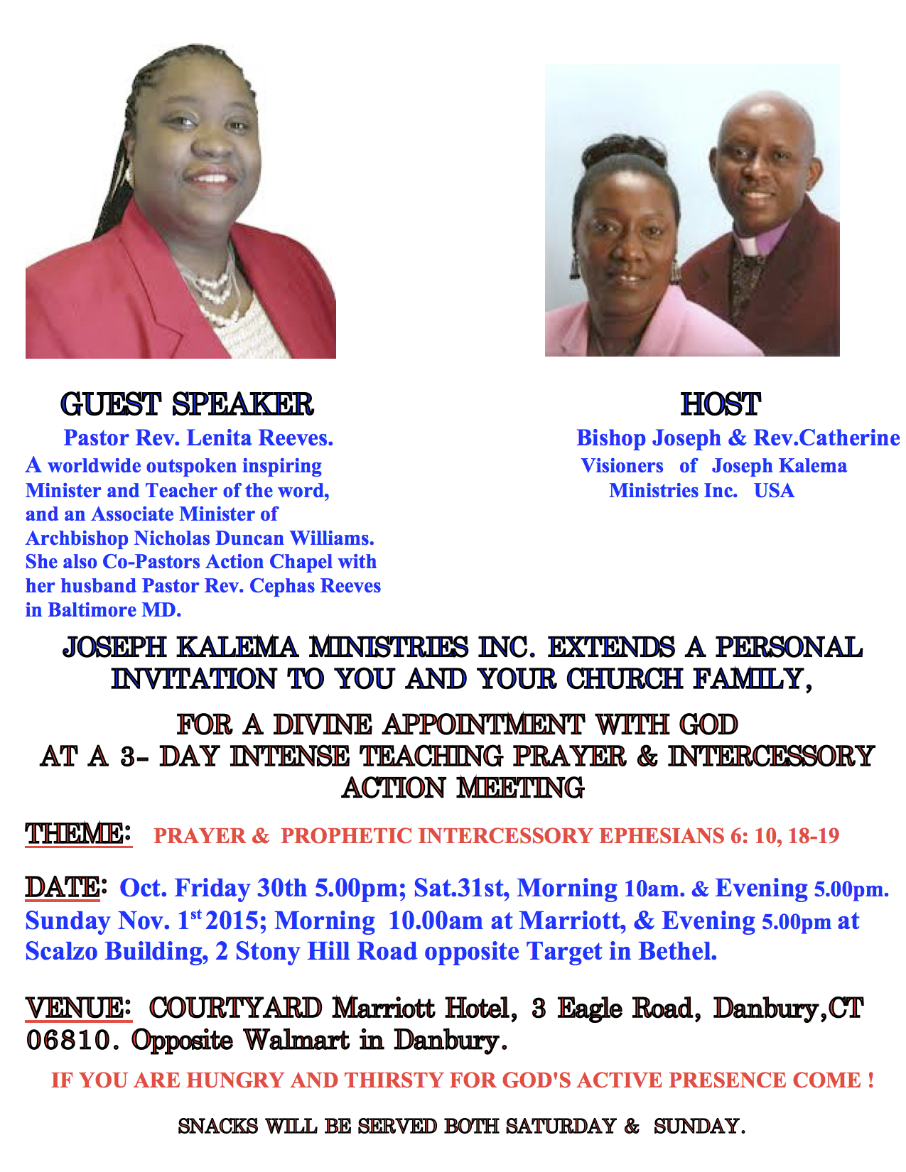 events | Kalema Ministries